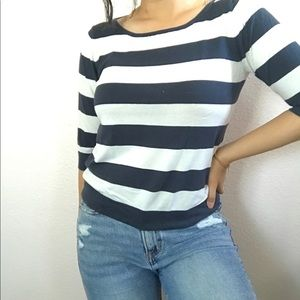 Espirit blue and white striped long sleeve